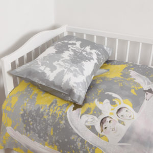 Komplekt väikelastele: Luiged kollases