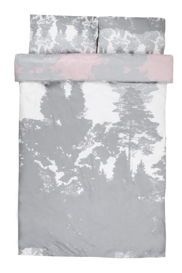 Suur voodipesukomplekt Luiged roosas